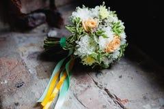 De details van het huwelijksboeket Royalty-vrije Stock Afbeeldingen