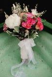 De details van het huwelijksboeket Stock Foto's
