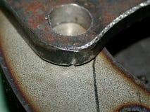 De details van het ijzer, macro Stock Foto's