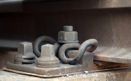 De Details van het Spoor van de spoorweg Stock Foto's