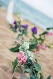De Details van het strandhuwelijk stock fotografie