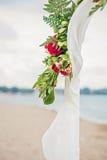 De Details van het strandhuwelijk stock afbeelding