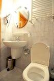 De details van het toilet. stock afbeeldingen