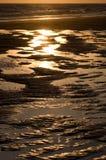De details van het water op strand Royalty-vrije Stock Afbeeldingen