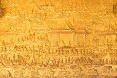 De details van de kunst van Laos ` s in Wat Mai in Luang Pra worden geschoten die bonzen royalty-vrije stock foto