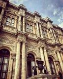 De detailsgeschiedenis van Dolmabahcesarayi royalty-vrije stock foto's