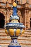 de detalj espana plaza seville spain arkivfoto