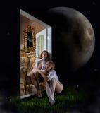 De deur aan de wereld van dromen Stock Afbeelding