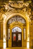 De deur in een barokke stijl in wupperta-Barmannen royalty-vrije stock foto