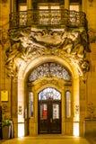 De deur in een barokke stijl in wupperta-Barmannen stock fotografie