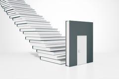 De deur en de ladder van het onderwijsconcept Stock Fotografie