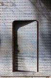 De deur en de schaduw van het Unshutstaal Stock Foto's