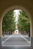 De deur en de weg van de boog Royalty-vrije Stock Afbeelding