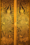 De Deur, het Thaise art. van Ruitenstrepen Royalty-vrije Stock Foto