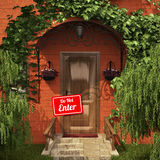 De deur met gaat geen lijst in Stock Foto