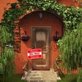 De deur met stoort geen lijst Stock Foto's
