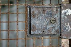 De deur van Alcatraz Stock Foto's