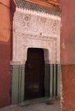 De deur van Arabesque van Marakesh Stock Afbeeldingen