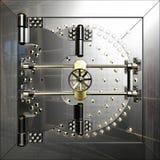 De deur van de bankkluis royalty-vrije illustratie