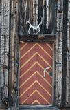De deur van de cabine in Noorwegen Stock Fotografie