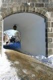 De deur van de citadel stock afbeeldingen