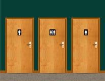 De deur van de Cyclus van het Water van WC stock afbeeldingen