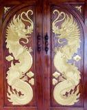 De deur van de draak Stock Afbeelding