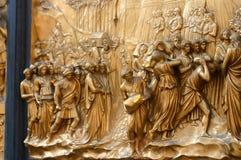 De deur van de kathedraal in Florence stock fotografie