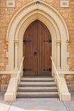 De deur van de kerk Stock Foto's