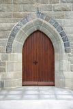 De deur van de kerk in Ierland Stock Afbeeldingen