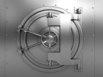 De deur van de kluis Stock Foto's