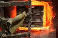 De Deur van de Oven van het glas Royalty-vrije Stock Afbeeldingen