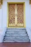 De deur van de patroonkerk Stock Foto's