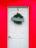 De deur van de Santasworkshop Stock Foto's