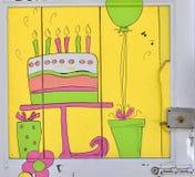 De deur van de verjaardag Stock Afbeelding