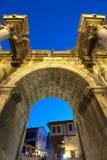 De deur van Hadrian; Antalya Stock Foto