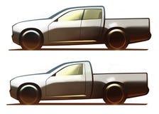 De 5-deur van het autolichaam Bestelwagen en 3-deur Bestelwagen Royalty-vrije Stock Afbeeldingen