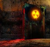 De deur van het gevaar Stock Foto