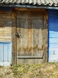 De deur van het huis Stock Foto