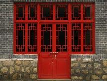 De deur van het huis Stock Foto's