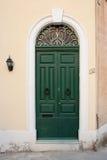 De deur van het huis in Malta. Stock Foto