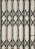 De deur van het ijzer grunge metaal en muurtextuur Stock Afbeelding