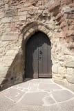 De deur van het kasteel royalty-vrije stock afbeelding