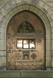 De Deur van het kasteel Stock Fotografie