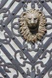 De deur van het kasteel Stock Foto