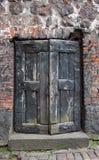 De deur van het Kasteel van Vyborg stock afbeeldingen