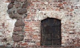 De deur van het Kasteel van Vyborg royalty-vrije stock afbeeldingen
