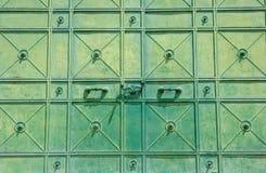 De deur van het metaal Stock Afbeeldingen