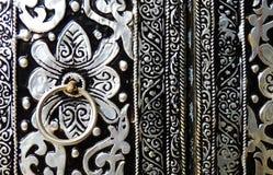 De deur van het metaal stock afbeelding