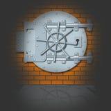 De deur van het staal van bankopslagruimte Stock Fotografie